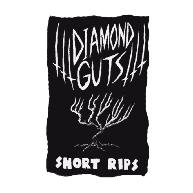 "A withery tree, Diamond Guts ""Short Rips"" album cover."